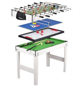 meilleure table de ping pong 4 en 1 leomark